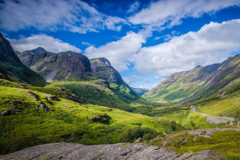 Glencoe and Loch Lomond.