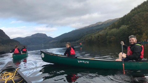 Canoeing on Loch Lubnaig, Callander
